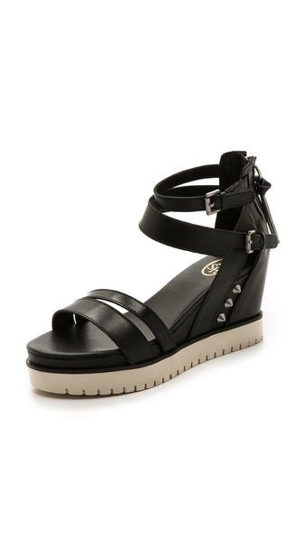 Ash Penelope Sneaker Sandals - Black/Antic Silver/Off White at Shopbop / East Dane