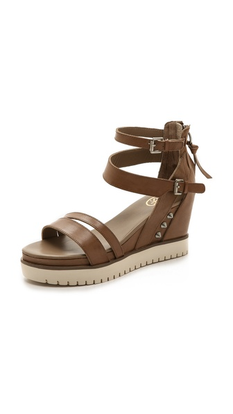 Ash Penelope Sneaker Sandals - Taupe/Antic Silver/Off White at Shopbop / East Dane