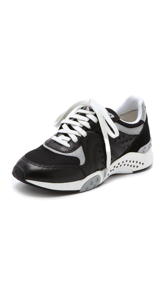 Ash Hendrix Ter Jogging Sneakers - Black/Black/Silver at Shopbop / East Dane
