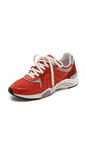 Ash Hendrix Ter Jogging Sneakers - Coral/Coral/Silver at Shopbop / East Dane