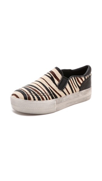 Ash Jungle Print Slip On Sneakers - Cream/Black at Shopbop / East Dane