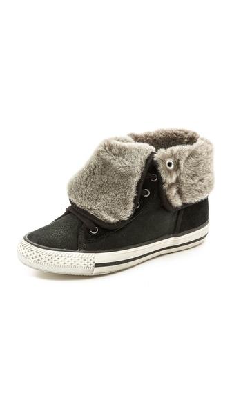 Ash Vanna High top Shearling Sneakers