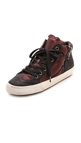 Ash Bis High Top Metallic Sneakers
