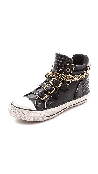 Kupi Ash cipele online i raspordaja za kupiti Ash Velvet Chain High Top Sneakers Black cipele