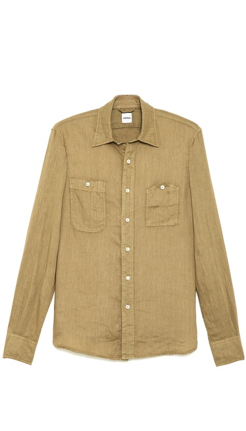 Aspesi Gasolina 2 Pocket Linen Shirt