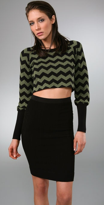 ALICE by Temperley Cropped Ripley Sweater