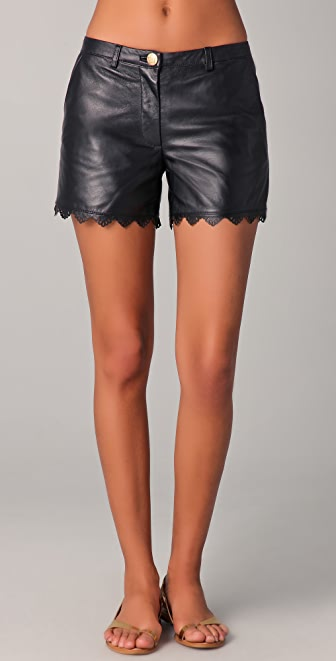 ALICE by Temperley Libre Leather Shorts