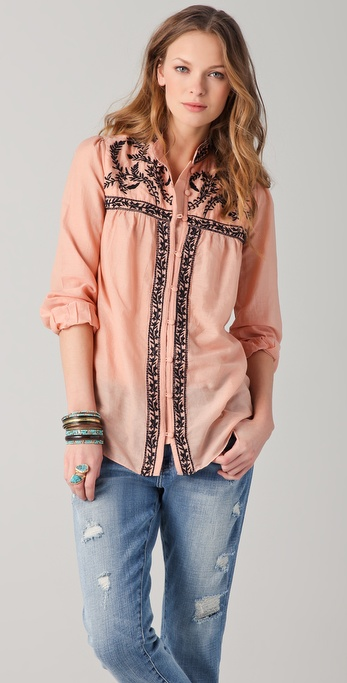 ALICE by Temperley Rana Embroidered Blouse