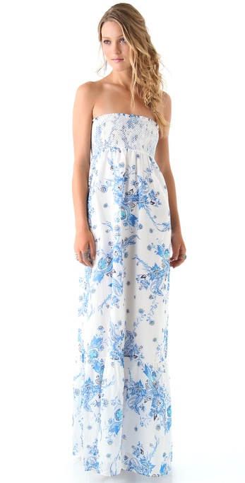 ALICE by Temperley Long Kali Print Strapless Dress