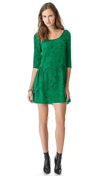 ALICE by Temperley Heron Print Long Sleeve Dress