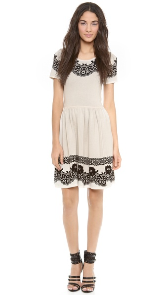 ALICE by Temperley Short Sleeve Wisp Dress