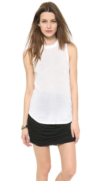 ATM Anthony Thomas Melillo Sleeveless Seamed Sweater