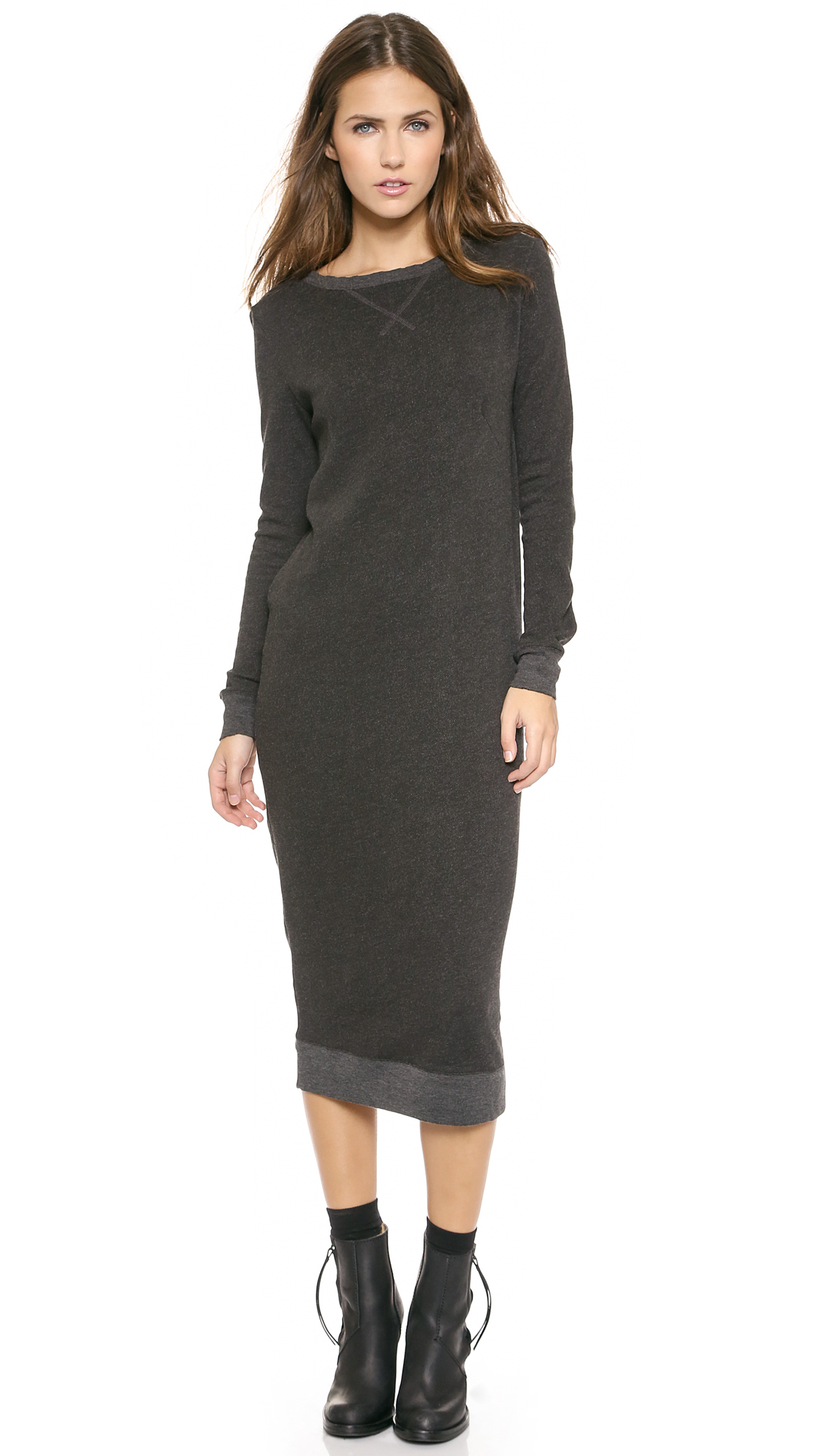 ATM Anthony Thomas Melillo Long Sweatshirt Dress