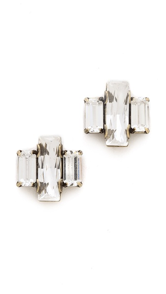 AUDEN Crystal Stud Earrings