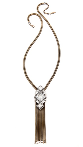 AUDEN Riley Fringe Pendant Necklace