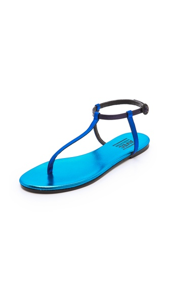 Avec Moderation Metallic Thong Sandals