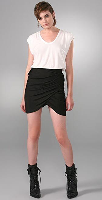 Alexander Wang Shirt Dress with Draped Skirt
