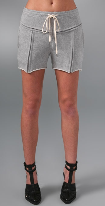Alexander Wang Terry Sweatshorts with Slot Seam Detail