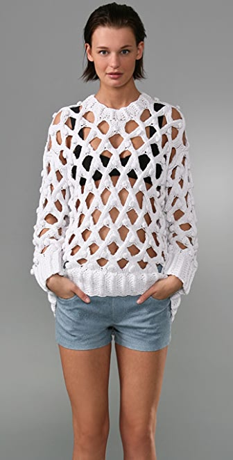 Alexander Wang Lattice Bobble Sweater