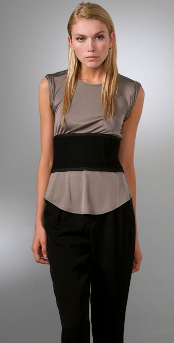 Alexander Wang Sleeveless Top with Corset & Keyhole