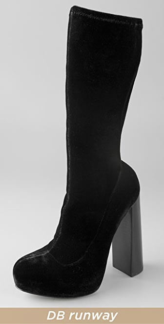 Alexander Wang Alana Velvet Platform Boots