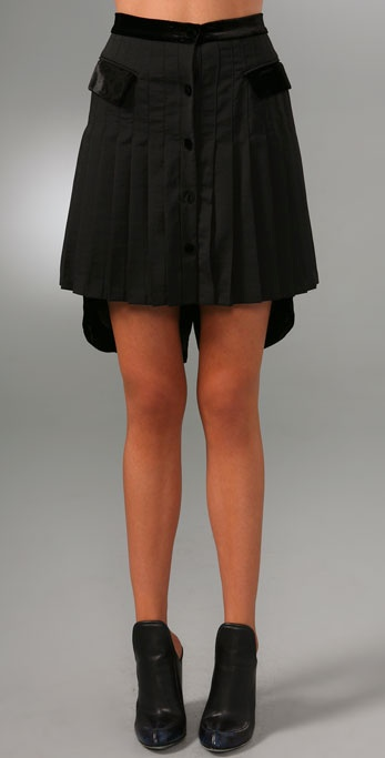 Alexander Wang Pleated Skirt with Tailcoat Detail