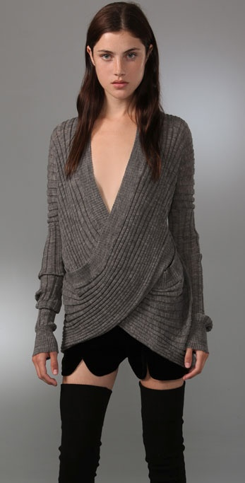 Alexander Wang Wide Rib Wrap Top