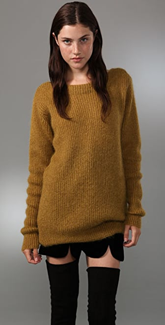 Alexander Wang Mohair Boatneck Sweater