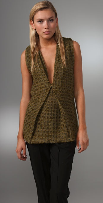 Alexander Wang Sleeveless Tunic Sweater
