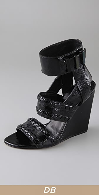 Alexander Wang Kasia Whipstitch Wedge Sandals