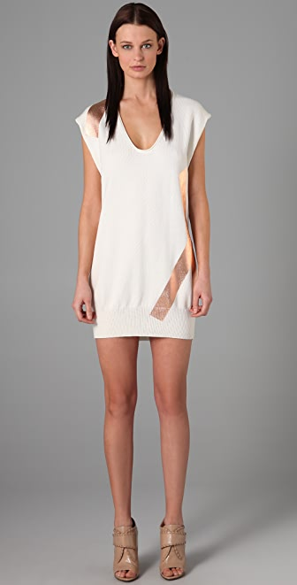 Alexander Wang Cotton Foil Tank Dress
