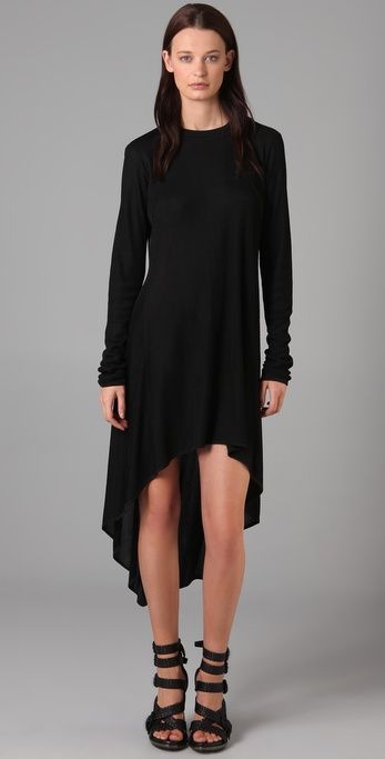 Alexander Wang Drapey Rib Cascade Dress