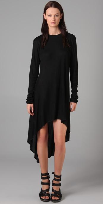 draped alexander wang dress