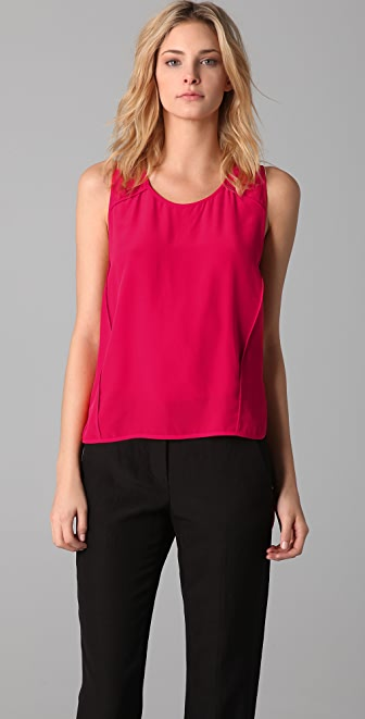 Alexander Wang Cropped Front Racer Back Tank