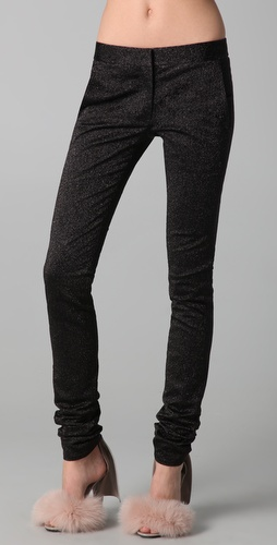 Alexander Wang Drainpipe Metallic Skinny Pants