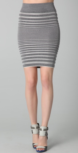 Alexander Wang Engineered Stripe Skirt