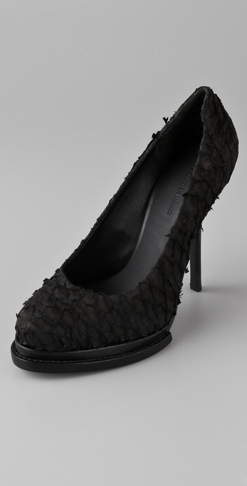 Alexander Wang Aida Fish Scale Platform Pumps