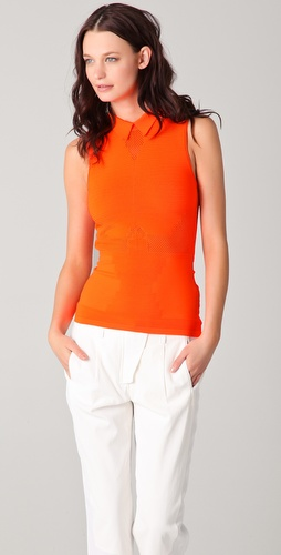 Alexander Wang Technical Sleeveless Polo