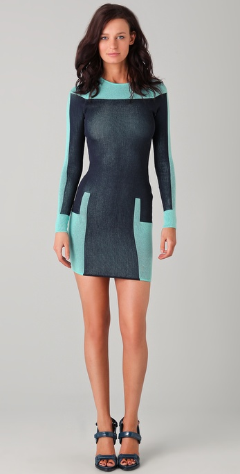 Alexander Wang Engineered Track Suit Dress