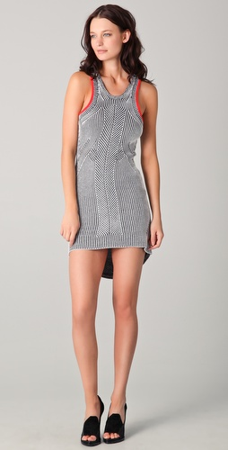 Alexander Wang Bi-Color Rib Tank Dress