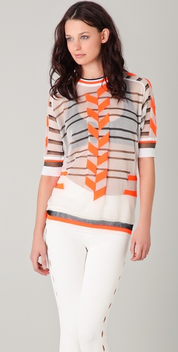 Alexander Wang Sheer Intarsia Sweater
