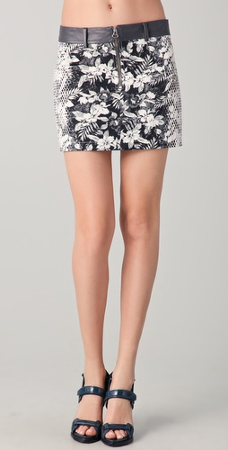 Alexander Wang Botanical Ombre Miniskirt