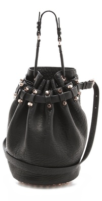 Alexander Wang Diego Bucket Bag with Rose Gold Hardware