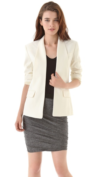 Alexander Wang Chintzed Wool Smoking Blazer