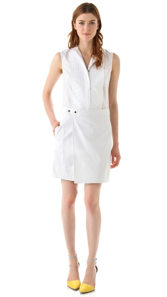 Alexander Wang Poplin Tuxedo Shirtdress