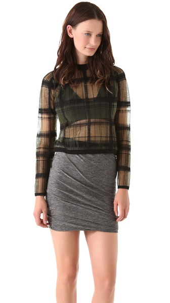 Alexander Wang Trompe l'Oeil Plaid Pullover