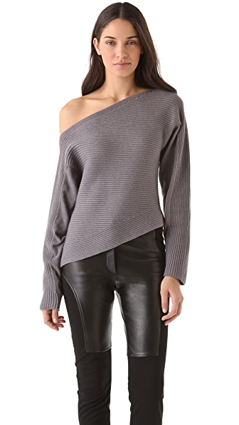 Alexander Wang Patchwork Stitch Asymmetrical Sweater