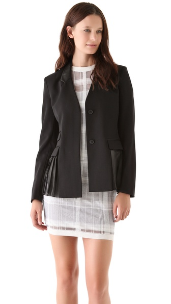 Alexander Wang Pleated Side Panel Blazer