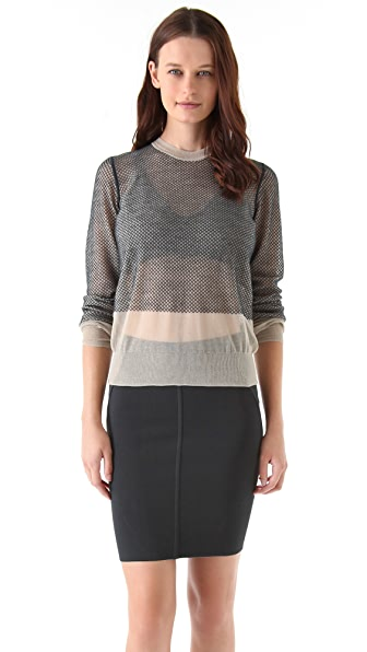Alexander Wang Net Overlay Sweater
