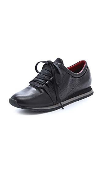 Alexander Wang Dani Croco Embossed Sneakers